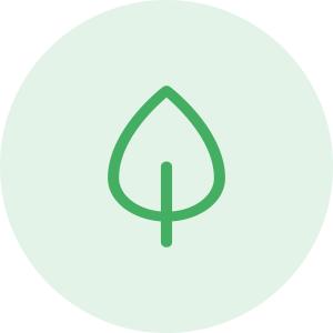 Icono de una hoja verde - Ámbito ambiental - Apambu