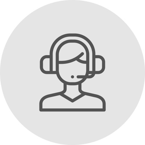 Female icon with earphones and earpieces - Get technical support - Apambu