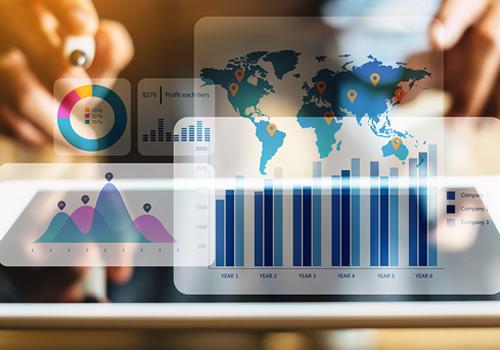 Análisis proyectados en una pantalla transparente - Cómo reportar la información no financiera según la Ley 11/2018 - Apambu
