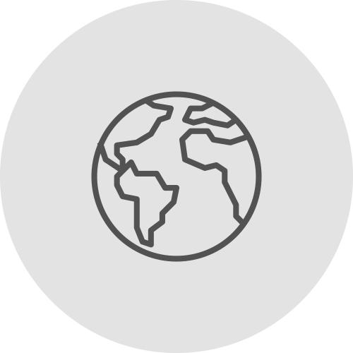 Icono de la bola del mundo transparente - Ventajas de alinearse con los ODS - Apambu