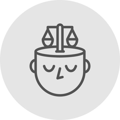 Icono de persona con balanza de justicia - Apambu