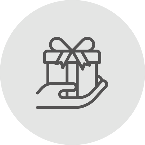 Gift in hand icon - Receive rewards - Apambu