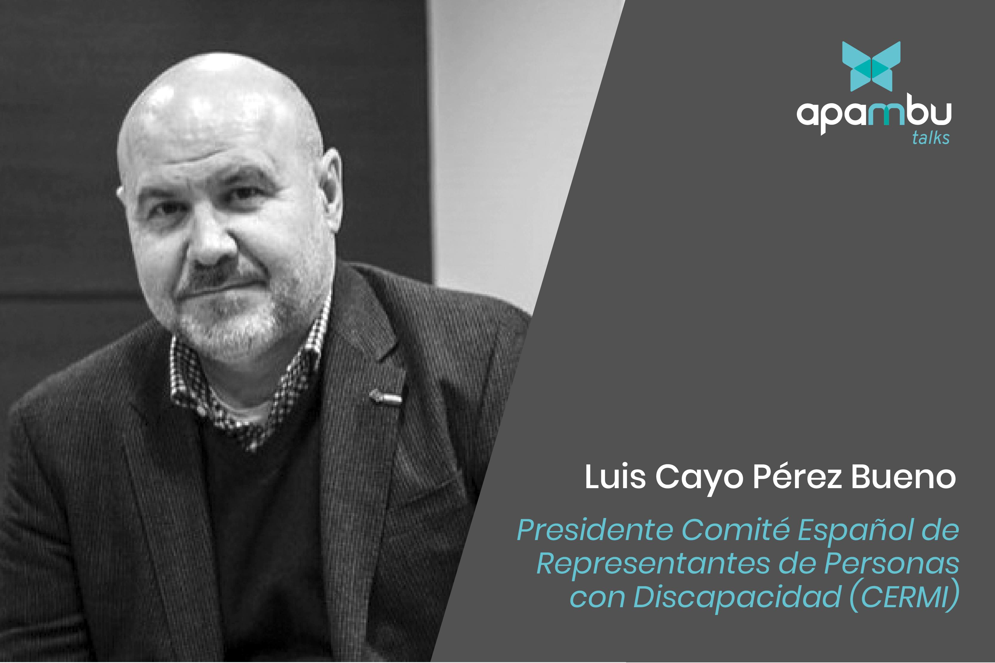 Apambu Talks con Luis Cayo Pérez Bueno. Presidente Comité Español de Representantes de Personas con Discapacidad (CERMI)