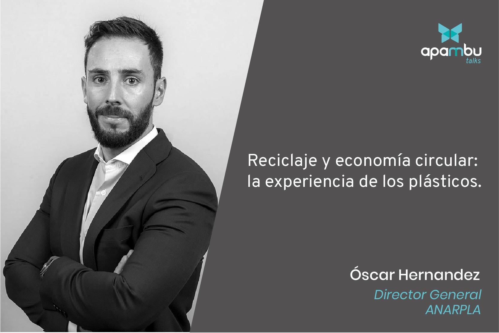 """""""El problema no es el plástico sino el uso que le damos."""" Oscar Hernandez."""